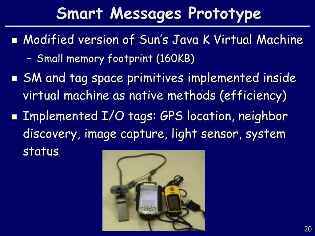 Smart Messages Prototype