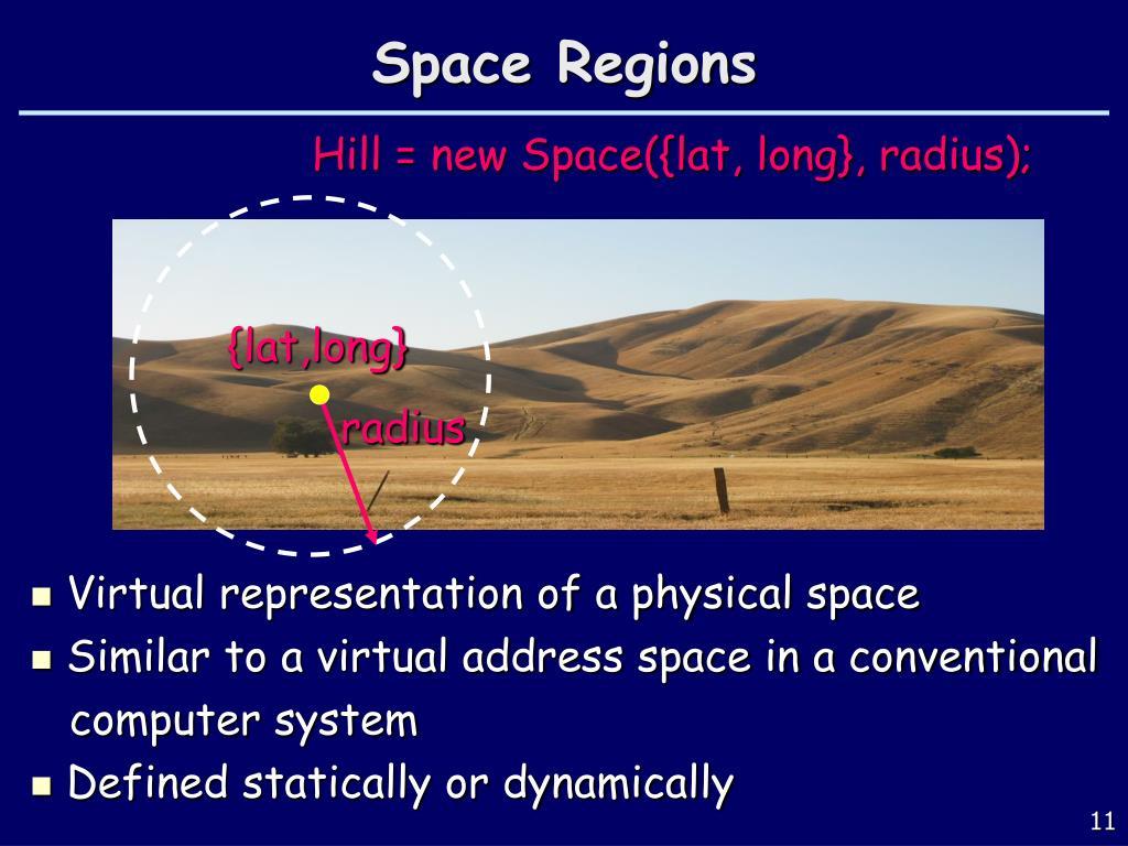Space Regions