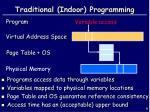 traditional indoor programming