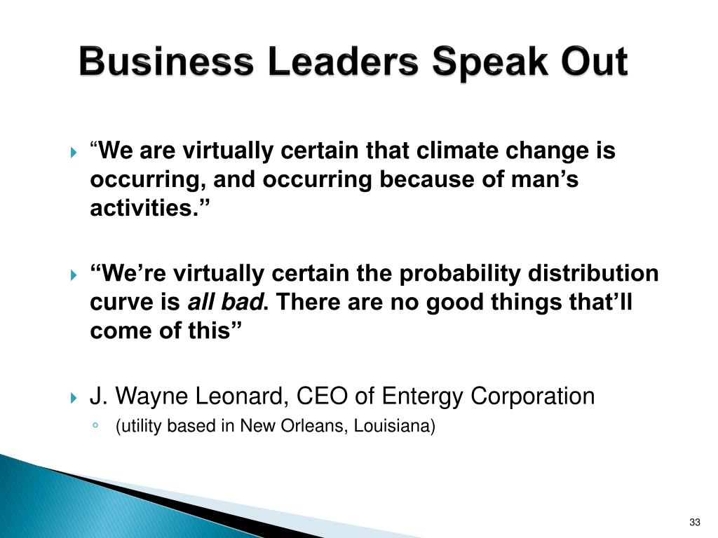Business Leaders Speak Out