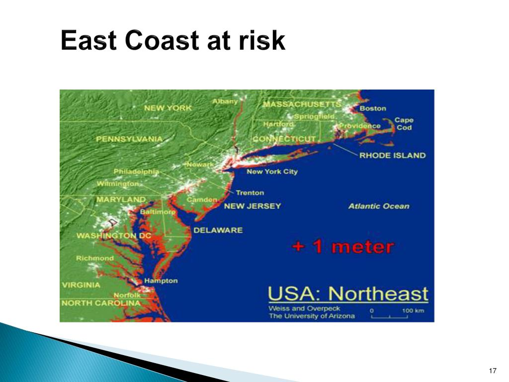 East Coast at risk