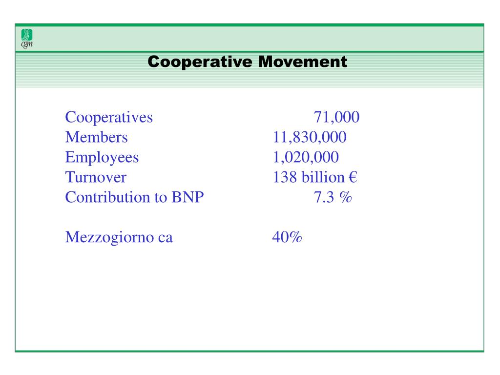 Cooperative Movement