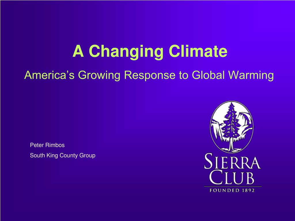 a changing climate l.