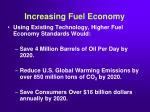 increasing fuel economy