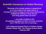 scientific consensus on global warming