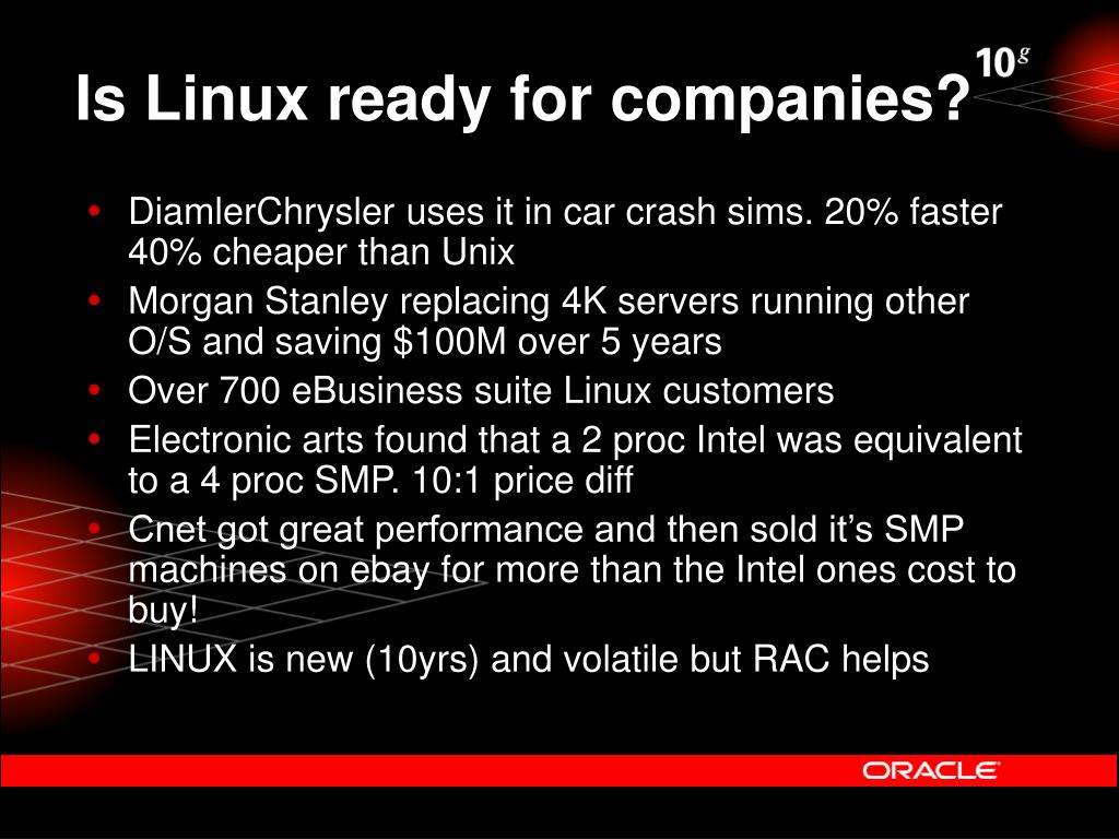 Is Linux ready for companies?