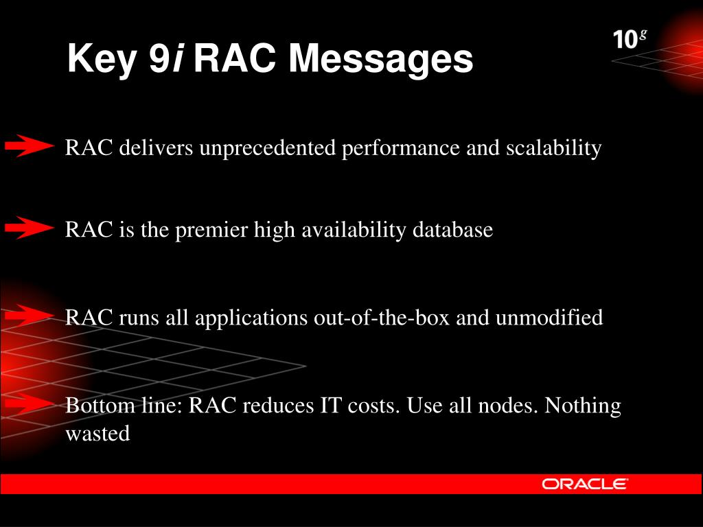 RAC delivers unprecedented performance and scalability