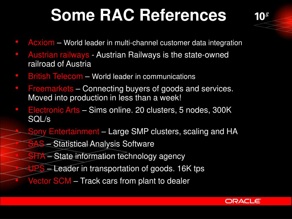 Some RAC References