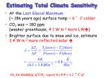estimating total climate sensitivity