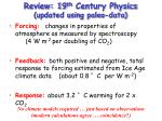 review 19 th century physics updated using paleo data