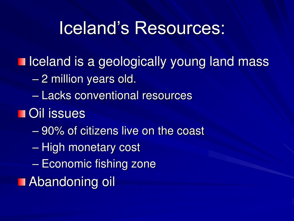 Iceland's Resources: