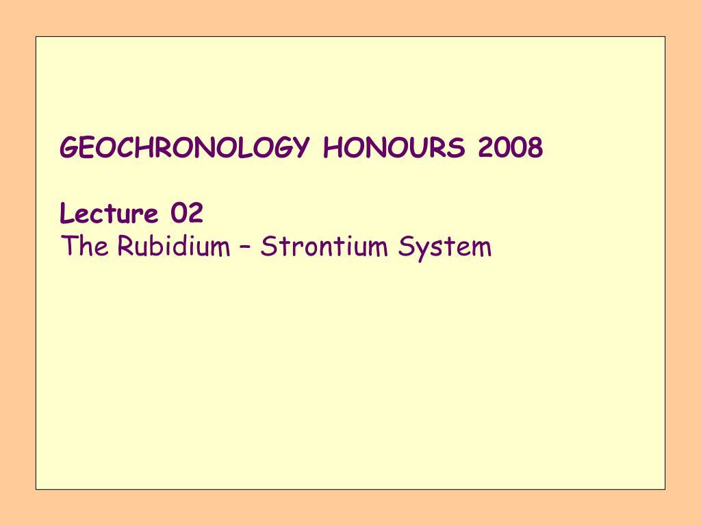 Rubidium strontium dating PPT