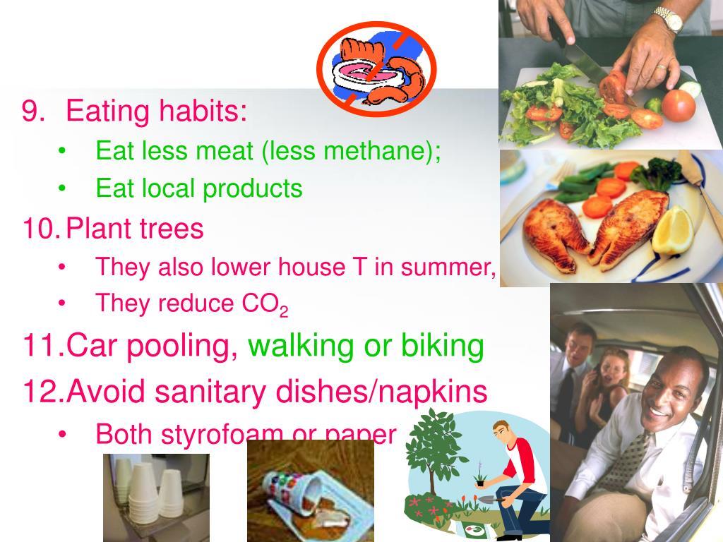 Eating habits: