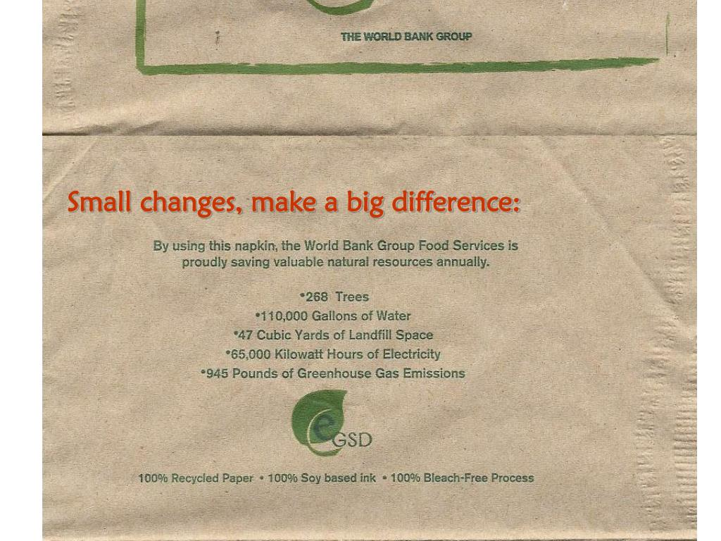 Small changes, make a big difference: