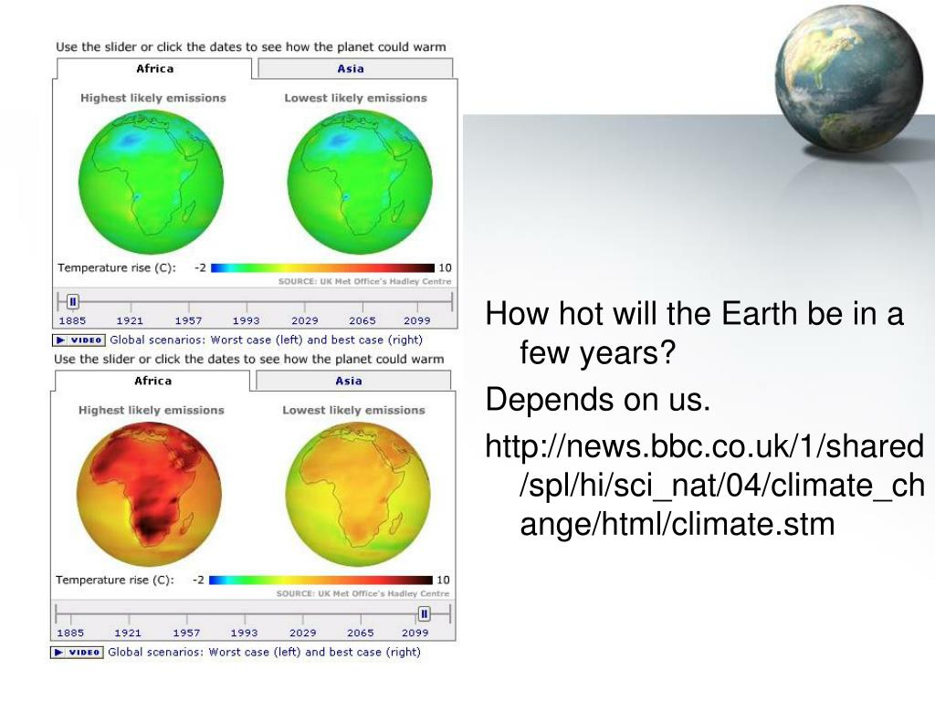 How hot will the Earth be in a few years?