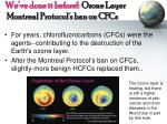 we ve done it before ozone layer montreal protocol s ban on cfcs