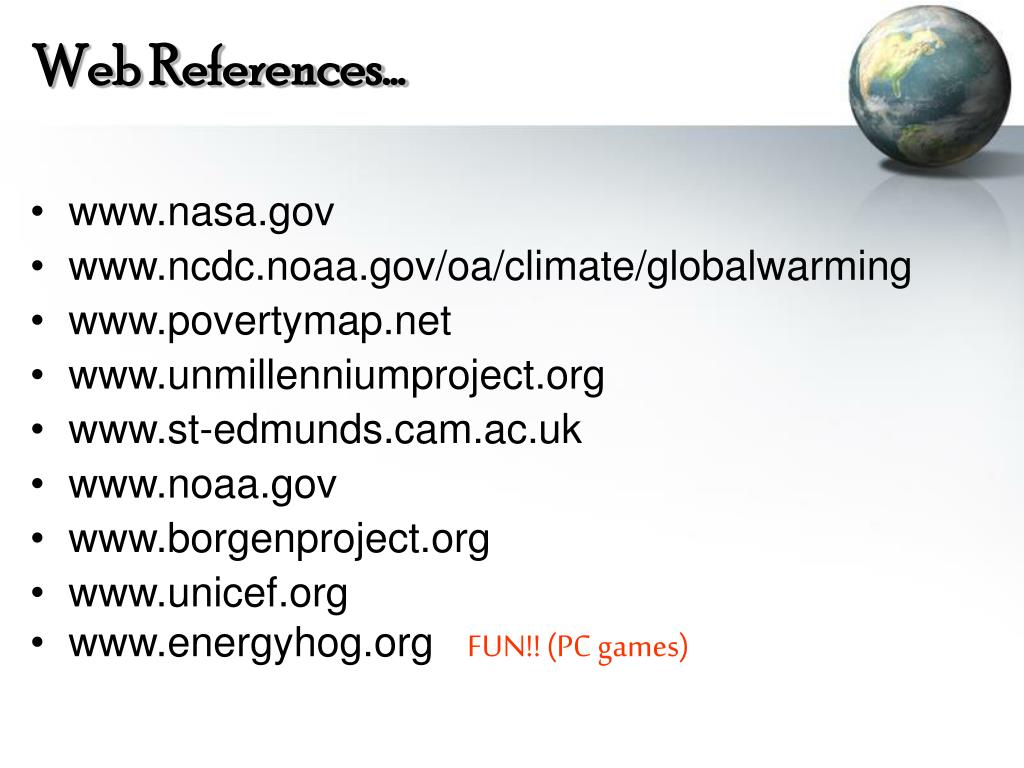 Web References…