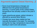 arguments against global warming 2