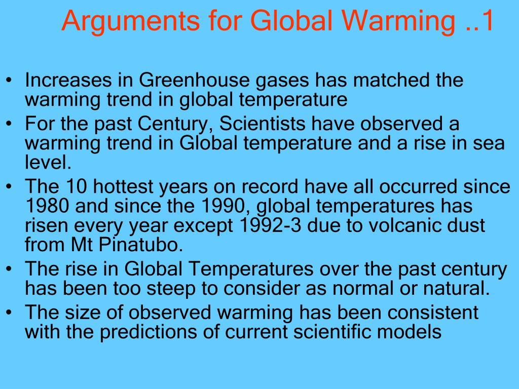 Arguments for Global Warming ..1