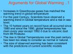 arguments for global warming 1