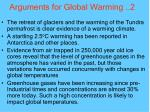 arguments for global warming 2