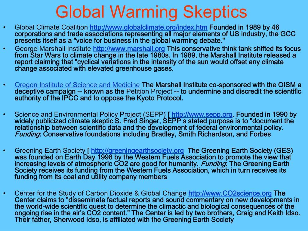 Global Warming Skeptics