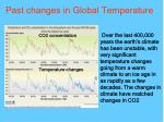 past changes in global temperature