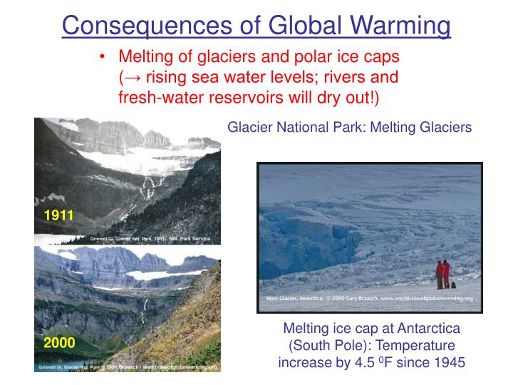 consequences of global warming Global warming is happening now,  hurricanes and global warming—potential linkages and consequences bulletin of the american meteorological society.