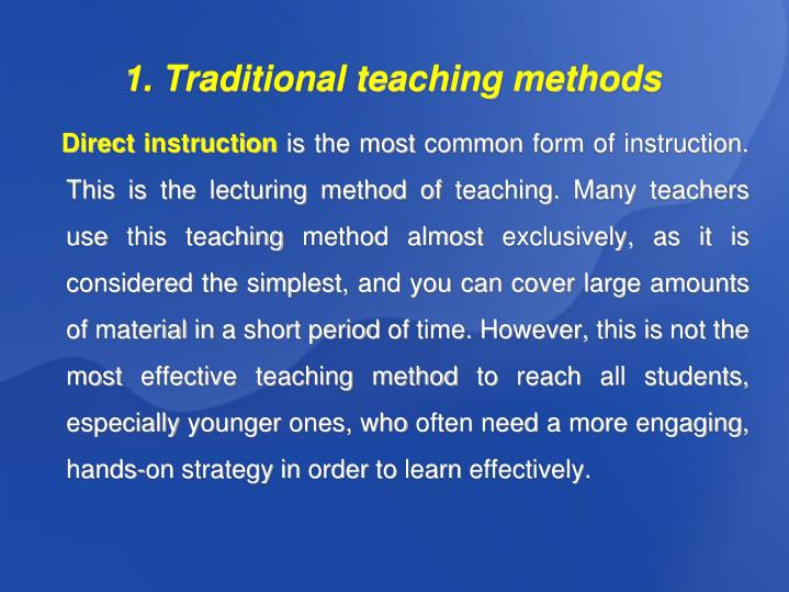 Ppt Traditional And Innovative Teaching Methods Author Monika