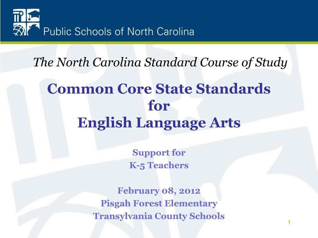 study of common core state standards The common core state standards initiative is an effort to ensure that all students in public schools in america acquire the skills and knowledge they need in order to be prepared to achieve success at college or in the workforce.