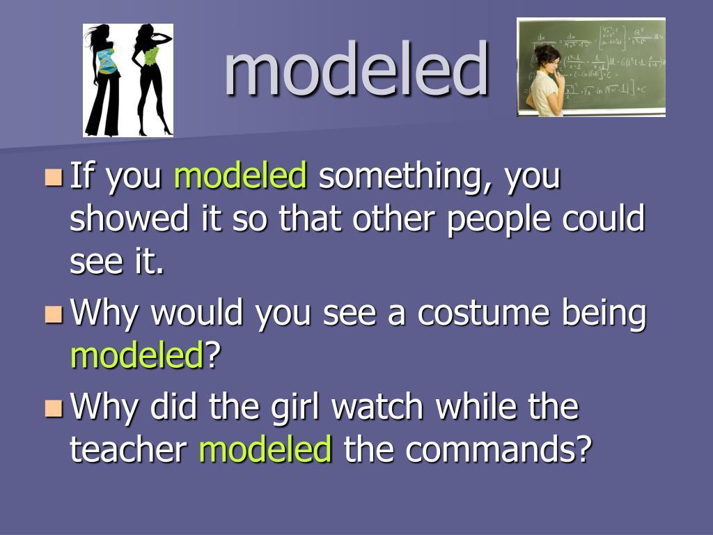modeled