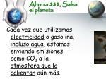 ahorra salva el planeta