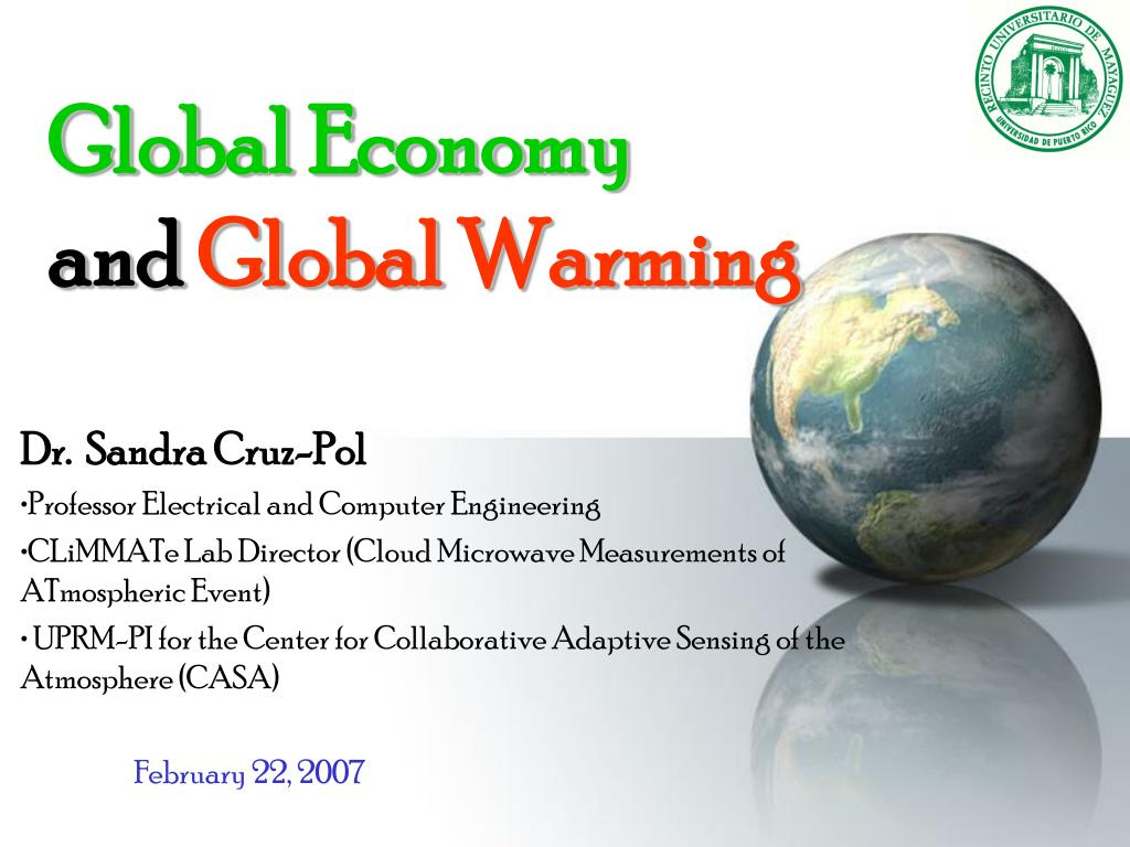global economy and global warming l.