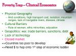 poverty trap clinical economics
