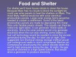 food and shelter32