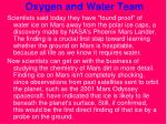 oxygen and water team27