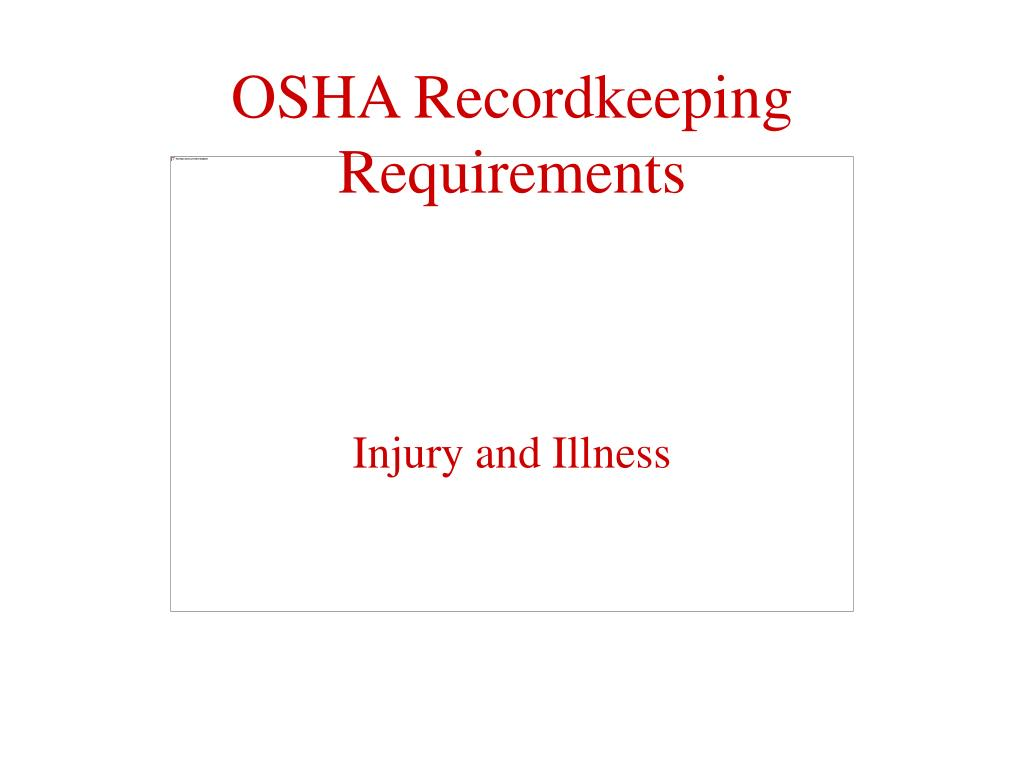 osha recordkeeping requirements