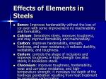 effects of elements in steels30