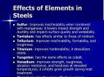 effects of elements in steels33