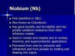 niobium nb