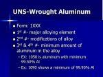 uns wrought aluminum