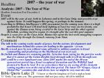 2007 the year of war