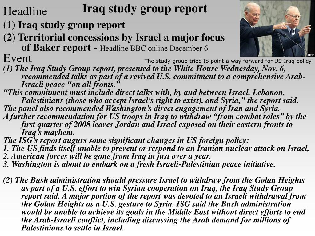 Iraq study group report