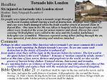 tornado hits london