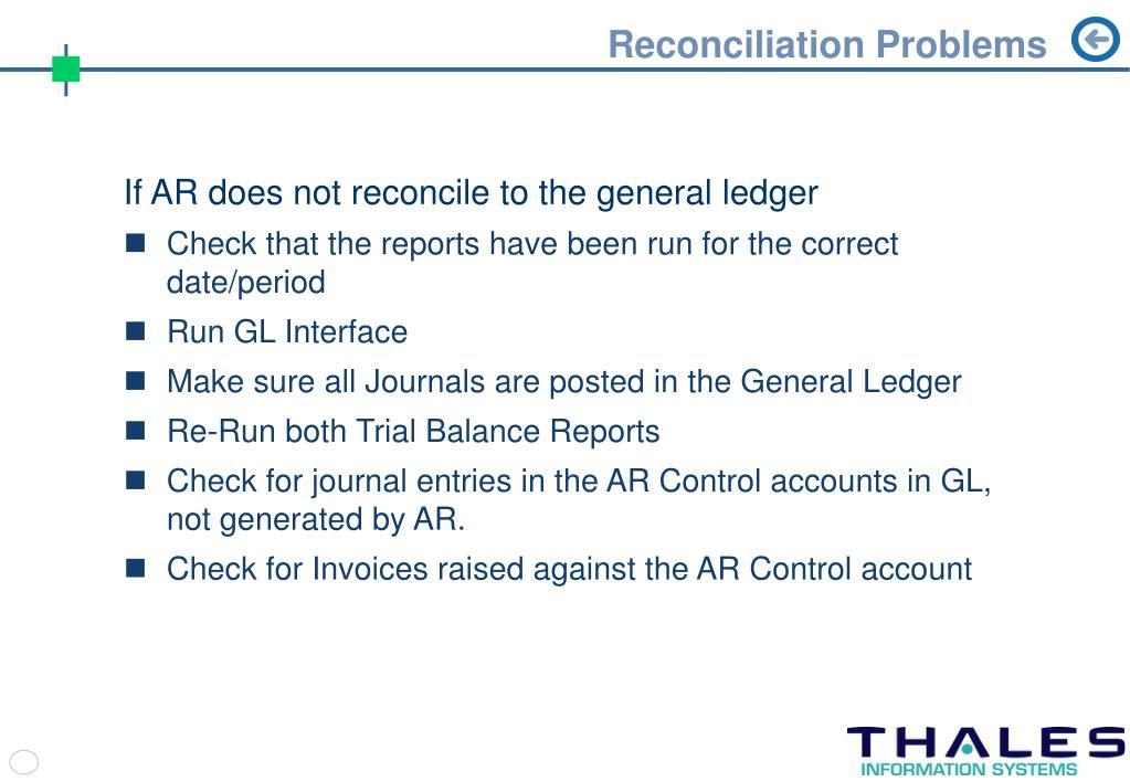 Reconciliation Problems
