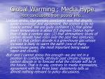 global warming media hype poor conclusions from poorer info60