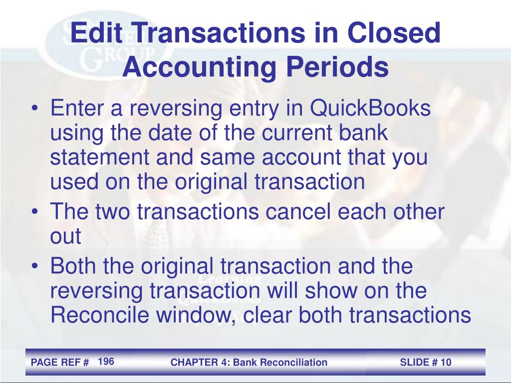 Edit Transactions in Closed Accounting Periods