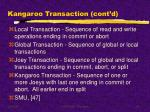 kangaroo transaction cont d