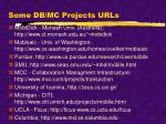 some db mc projects urls
