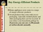 buy energy efficient products
